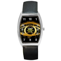 Virus Computer Encryption Trojan Barrel Style Metal Watch