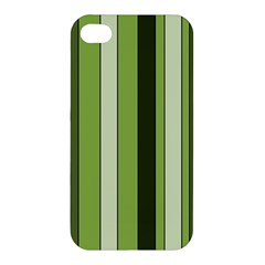 Greenery Stripes Pattern 8000 Vertical Stripe Shades Of Spring Green Color Apple iPhone 4/4S Premium Hardshell Case