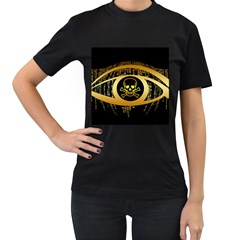 Virus Computer Encryption Trojan Women s T-Shirt (Black) (Two Sided)