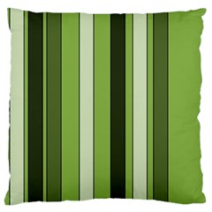 Greenery Stripes Pattern 8000 Vertical Stripe Shades Of Spring Green Color Large Cushion Case (Two Sides)