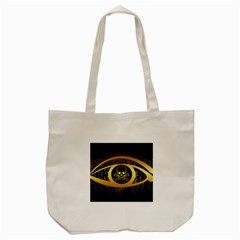 Virus Computer Encryption Trojan Tote Bag (Cream)