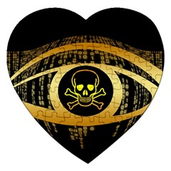 Virus Computer Encryption Trojan Jigsaw Puzzle (Heart)