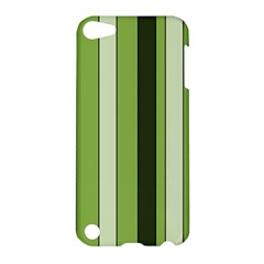 Greenery Stripes Pattern 8000 Vertical Stripe Shades Of Spring Green Color Apple iPod Touch 5 Hardshell Case