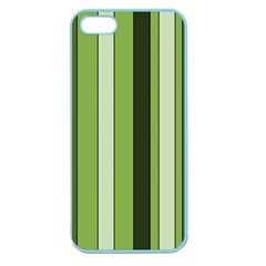Greenery Stripes Pattern 8000 Vertical Stripe Shades Of Spring Green Color Apple Seamless iPhone 5 Case (Color)