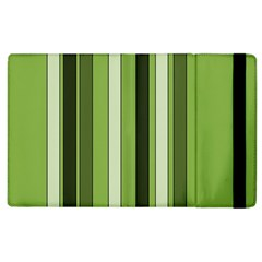 Greenery Stripes Pattern 8000 Vertical Stripe Shades Of Spring Green Color Apple iPad 2 Flip Case