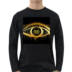 Virus Computer Encryption Trojan Long Sleeve Dark T-Shirts