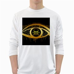 Virus Computer Encryption Trojan White Long Sleeve T-Shirts