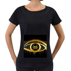 Virus Computer Encryption Trojan Women s Loose-Fit T-Shirt (Black)