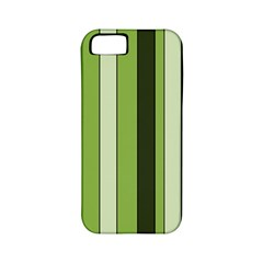 Greenery Stripes Pattern 8000 Vertical Stripe Shades Of Spring Green Color Apple iPhone 5 Classic Hardshell Case (PC+Silicone)