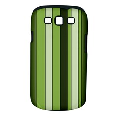 Greenery Stripes Pattern 8000 Vertical Stripe Shades Of Spring Green Color Samsung Galaxy S III Classic Hardshell Case (PC+Silicone)