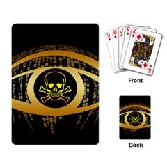 Virus Computer Encryption Trojan Playing Card
