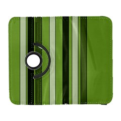 Greenery Stripes Pattern 8000 Vertical Stripe Shades Of Spring Green Color Galaxy S3 (Flip/Folio)
