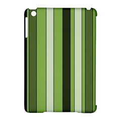 Greenery Stripes Pattern 8000 Vertical Stripe Shades Of Spring Green Color Apple iPad Mini Hardshell Case (Compatible with Smart Cover)