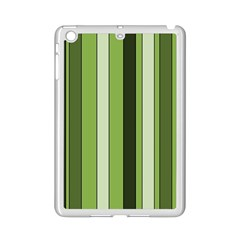 Greenery Stripes Pattern 8000 Vertical Stripe Shades Of Spring Green Color iPad Mini 2 Enamel Coated Cases