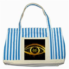 Virus Computer Encryption Trojan Striped Blue Tote Bag