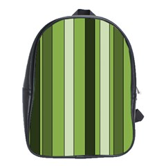 Greenery Stripes Pattern 8000 Vertical Stripe Shades Of Spring Green Color School Bags (XL)