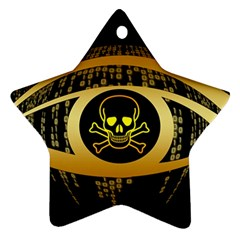 Virus Computer Encryption Trojan Star Ornament (Two Sides)