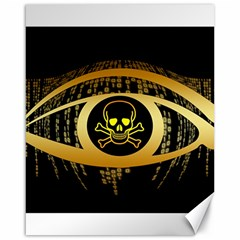 Virus Computer Encryption Trojan Canvas 16  x 20