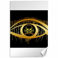 Virus Computer Encryption Trojan Canvas 20  x 30