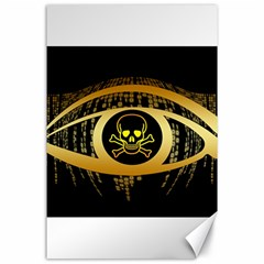 Virus Computer Encryption Trojan Canvas 24  x 36