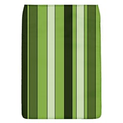 Greenery Stripes Pattern 8000 Vertical Stripe Shades Of Spring Green Color Flap Covers (L)