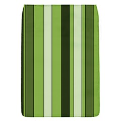 Greenery Stripes Pattern 8000 Vertical Stripe Shades Of Spring Green Color Flap Covers (S)