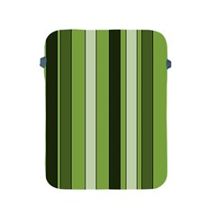 Greenery Stripes Pattern 8000 Vertical Stripe Shades Of Spring Green Color Apple iPad 2/3/4 Protective Soft Cases