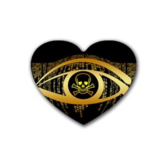 Virus Computer Encryption Trojan Heart Coaster (4 pack)