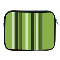 Greenery Stripes Pattern 8000 Vertical Stripe Shades Of Spring Green Color Apple iPad 2/3/4 Zipper Cases