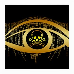 Virus Computer Encryption Trojan Medium Glasses Cloth (2-Side)