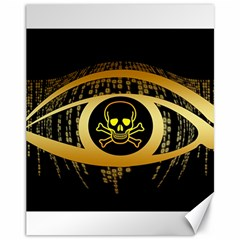 Virus Computer Encryption Trojan Canvas 11  x 14