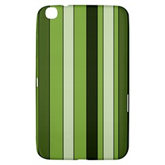 Greenery Stripes Pattern 8000 Vertical Stripe Shades Of Spring Green Color Samsung Galaxy Tab 3 (8 ) T3100 Hardshell Case