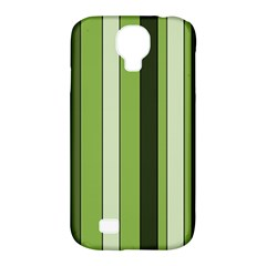 Greenery Stripes Pattern 8000 Vertical Stripe Shades Of Spring Green Color Samsung Galaxy S4 Classic Hardshell Case (PC+Silicone)