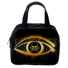 Virus Computer Encryption Trojan Classic Handbags (One Side)
