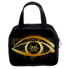 Virus Computer Encryption Trojan Classic Handbags (2 Sides)