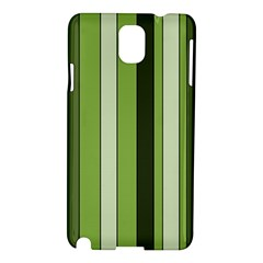 Greenery Stripes Pattern 8000 Vertical Stripe Shades Of Spring Green Color Samsung Galaxy Note 3 N9005 Hardshell Case
