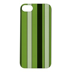 Greenery Stripes Pattern 8000 Vertical Stripe Shades Of Spring Green Color Apple iPhone 5S/ SE Hardshell Case