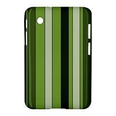 Greenery Stripes Pattern 8000 Vertical Stripe Shades Of Spring Green Color Samsung Galaxy Tab 2 (7 ) P3100 Hardshell Case