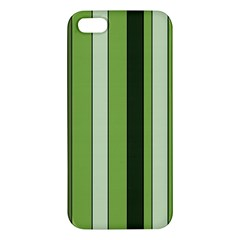 Greenery Stripes Pattern 8000 Vertical Stripe Shades Of Spring Green Color iPhone 5S/ SE Premium Hardshell Case