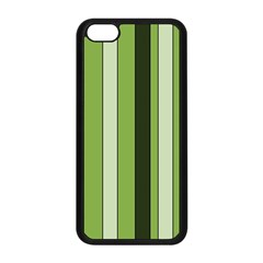 Greenery Stripes Pattern 8000 Vertical Stripe Shades Of Spring Green Color Apple iPhone 5C Seamless Case (Black)