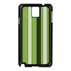 Greenery Stripes Pattern 8000 Vertical Stripe Shades Of Spring Green Color Samsung Galaxy Note 3 N9005 Case (Black)