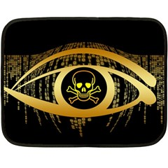 Virus Computer Encryption Trojan Fleece Blanket (Mini)