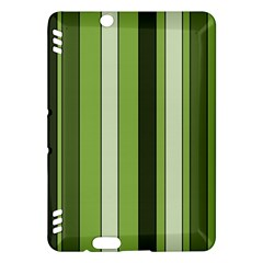 Greenery Stripes Pattern 8000 Vertical Stripe Shades Of Spring Green Color Kindle Fire HDX Hardshell Case