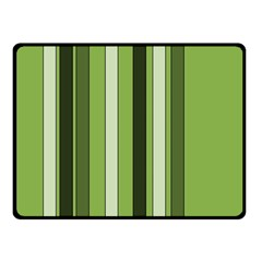 Greenery Stripes Pattern 8000 Vertical Stripe Shades Of Spring Green Color Double Sided Fleece Blanket (Small)