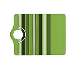 Greenery Stripes Pattern 8000 Vertical Stripe Shades Of Spring Green Color Kindle Fire HD (2013) Flip 360 Case