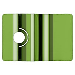 Greenery Stripes Pattern 8000 Vertical Stripe Shades Of Spring Green Color Kindle Fire HDX Flip 360 Case