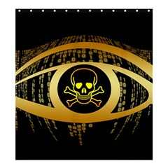 Virus Computer Encryption Trojan Shower Curtain 66  x 72  (Large)