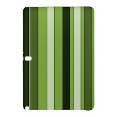 Greenery Stripes Pattern 8000 Vertical Stripe Shades Of Spring Green Color Samsung Galaxy Tab Pro 10.1 Hardshell Case