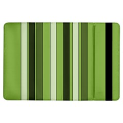 Greenery Stripes Pattern 8000 Vertical Stripe Shades Of Spring Green Color iPad Air Flip