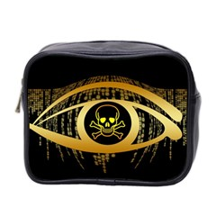 Virus Computer Encryption Trojan Mini Toiletries Bag 2-Side